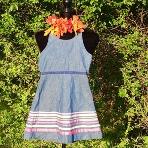 Blue Jean Halter Dress